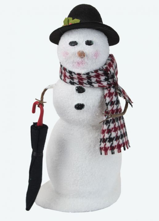 Byers Choice Caroler - Snowman with Umbrella 2021