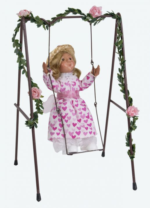 Byers Choice Caroler - Toddler Girl on Swing 2019