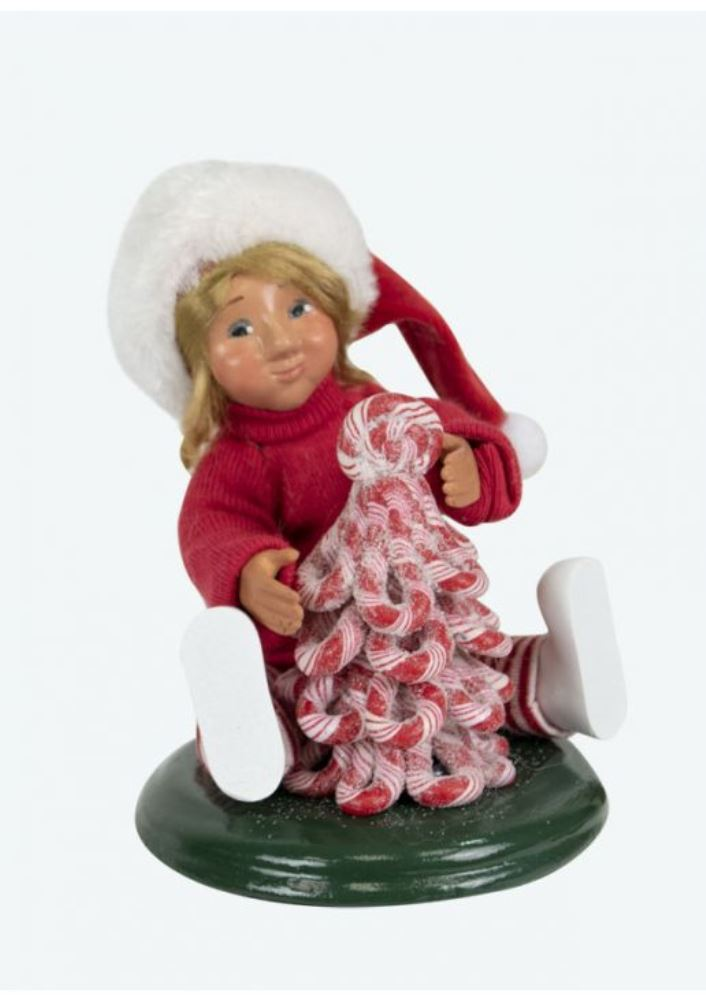 Byers Choice Caroler - Toddler with Candy Tree 2019