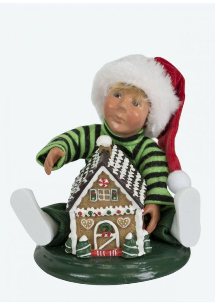 Byers Choice Caroler - Toddler with Gingerbread 2019