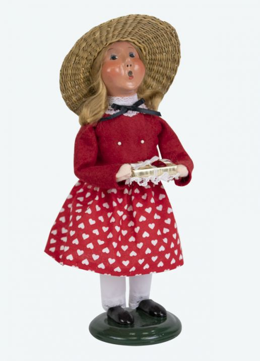 Byers Choice Caroler - Valentine Girl 2019