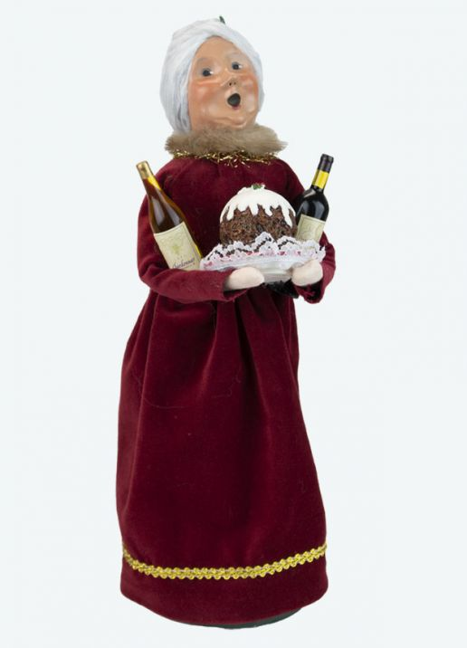 Byers Choice Caroler - Wine Mrs Claus 2021