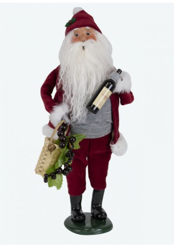 Byers Choice Caroler - Wine Santa 2019