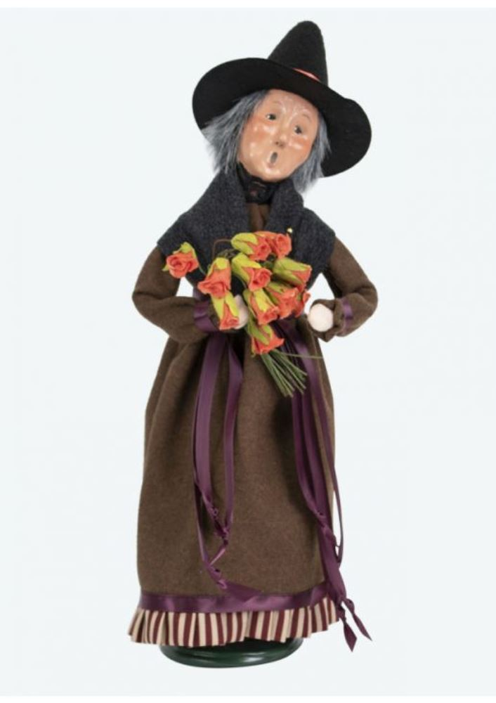 Byers Choice Caroler - Witch with Roses 2019