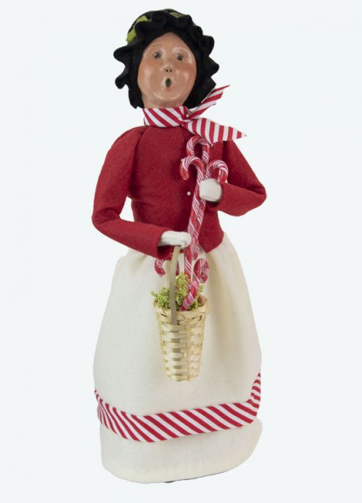 Byers Choice Caroler - Woman with Candy Canes 2021