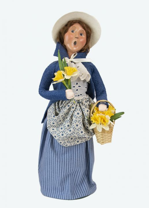 Byers Choice Caroler - Woman with Daffodils 2021
