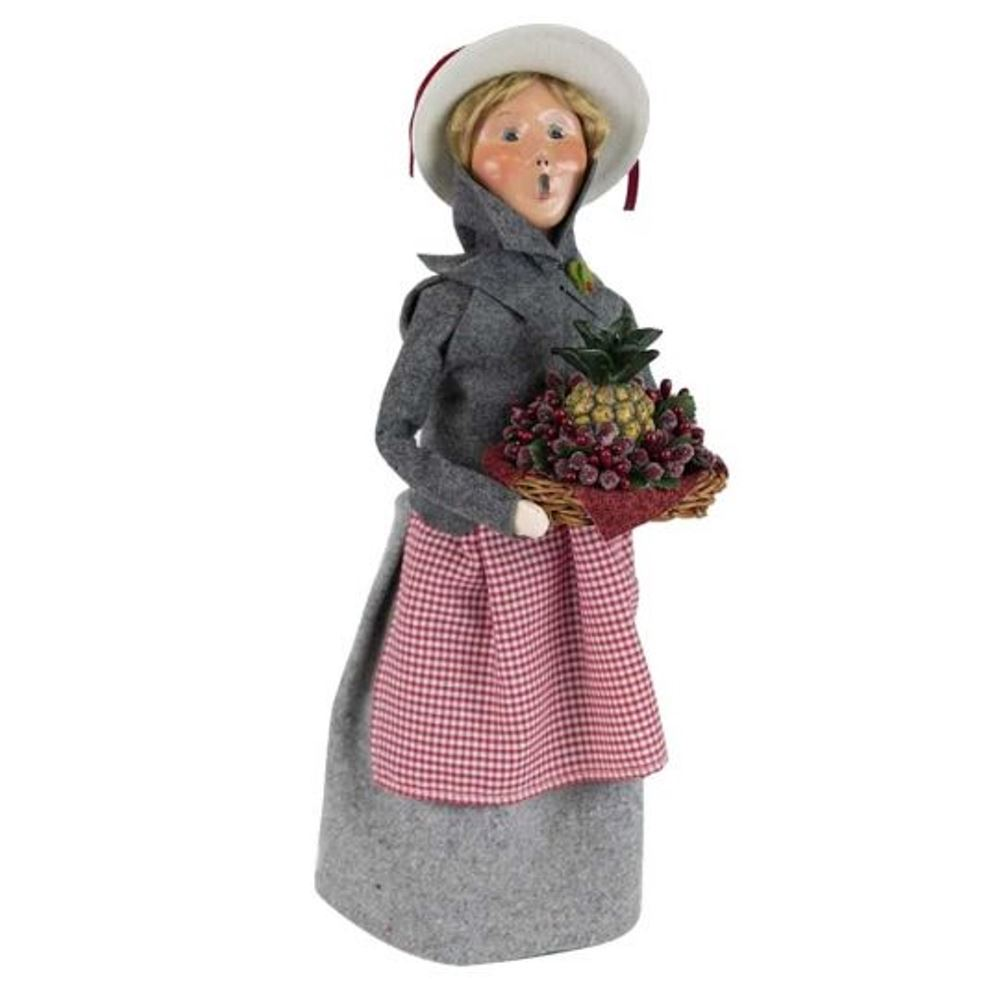 Byers Choice Caroler - Woman with Pineapple - Signed by Joyce Byers