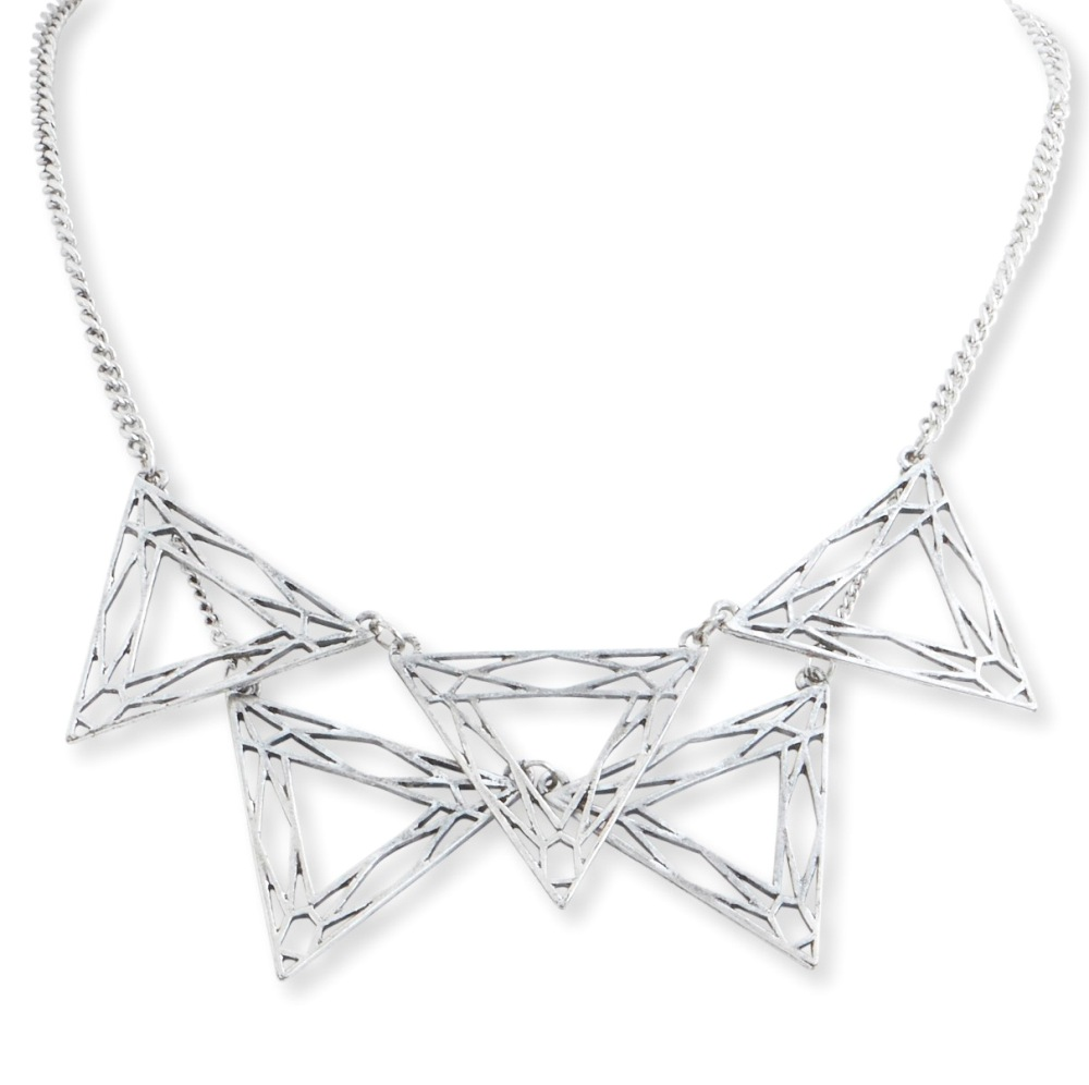 C.T. Hill Designs - Antique Silver Triangle Necklace