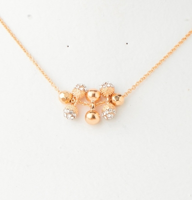 C.T. Hill Designs - Gold and Crystal 8 Ball Pendant Necklace