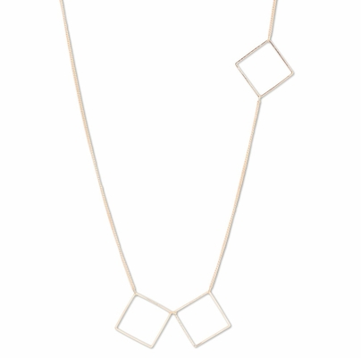 C.T. Hill Designs - Gold Square Accent Long Necklace