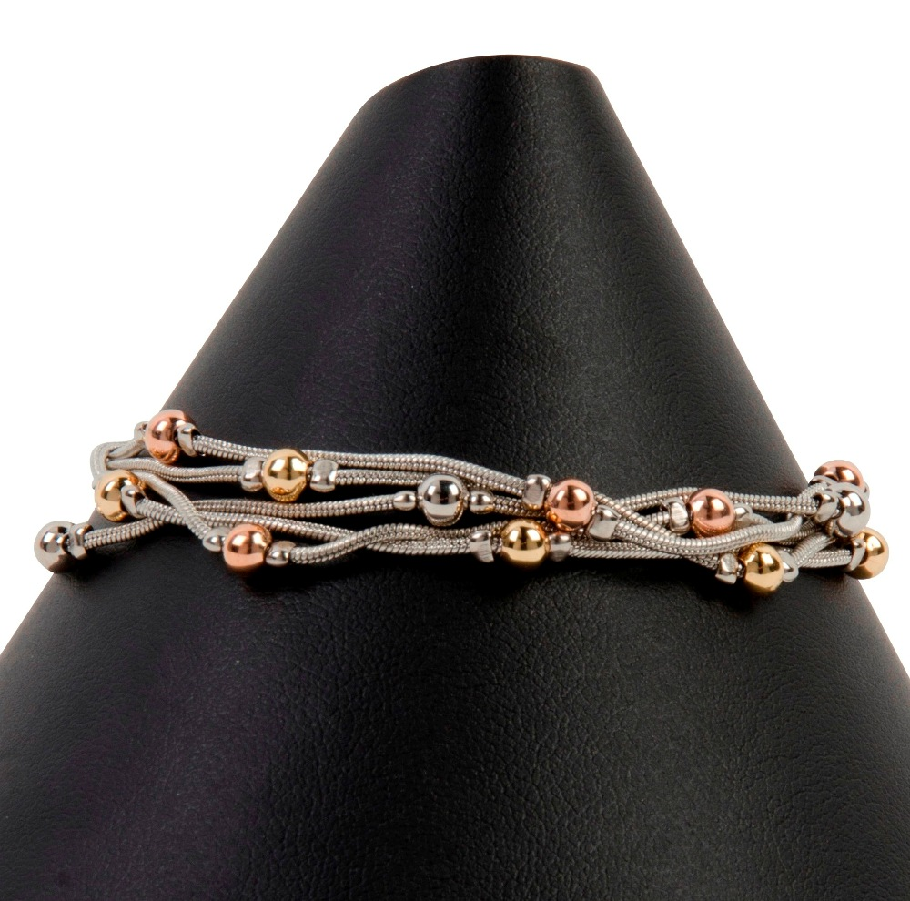 C.T. Hill Designs - Multi Metal 5 Chain Bracelet With Lobster Clasp Extender