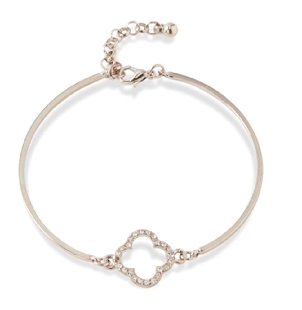 C.T. Hill Designs - Silver and Crystal Accent Bangle Bracelet
