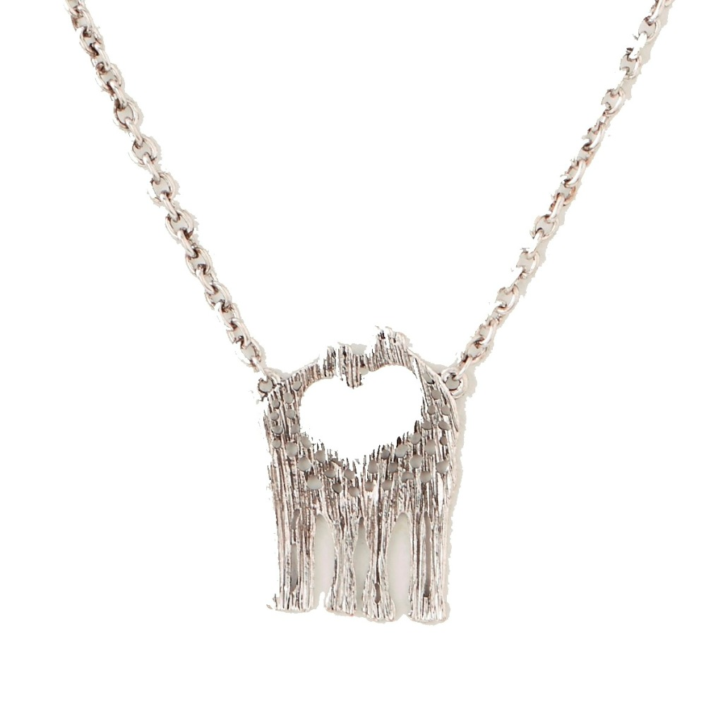 C.T. Hill Designs - Silver Double Giraffe Pendant Necklace