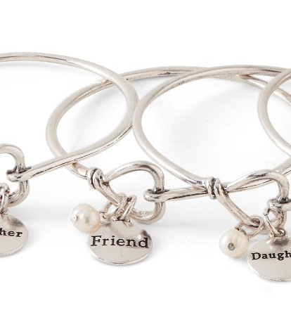 C.T. Hill Designs - Silver Friend Bangle Bracelet with Pearl
