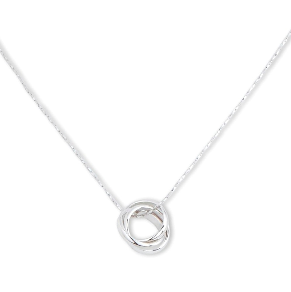 C.T. Hill Designs - Silver Interlocking Triple Hoop Necklace