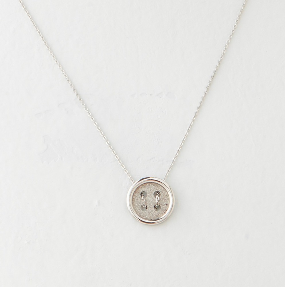 C.T. Hill Designs - Stainless Steel Button Pendant Necklace