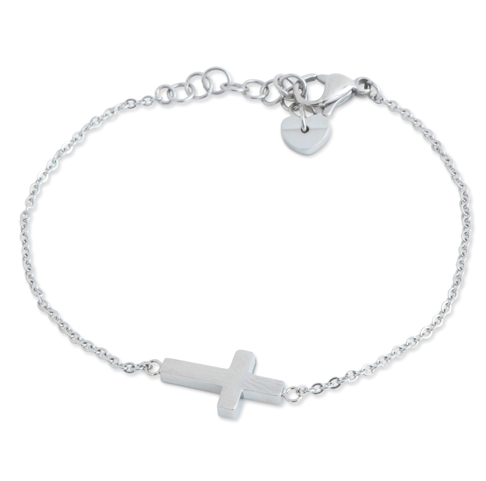 C.T. Hill Designs - Stainless Steel Side Cross Bracelet
