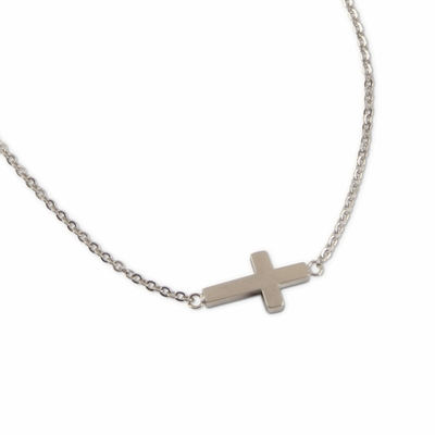 C.T. Hill Designs - Stainless Steel Side Cross Necklace
