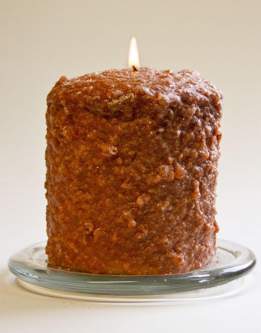 Cake Candle - Warm Glow - Gingerbread Cookie - 5in x 4.5in