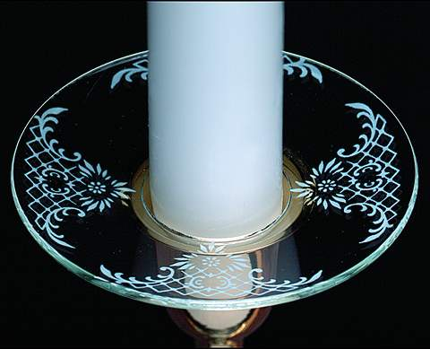 Candle Bobeche - Glass Bobeche""