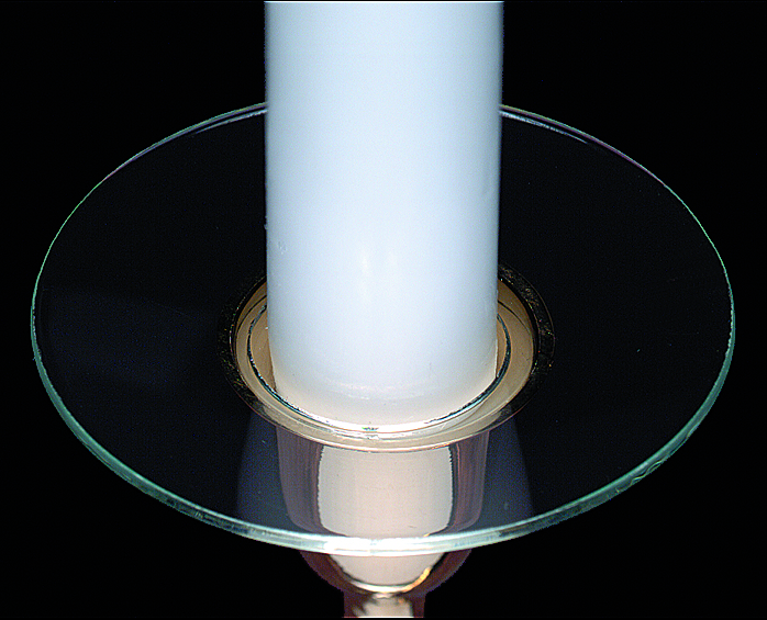 Candle Bobeche - Plain Glass Bobeche