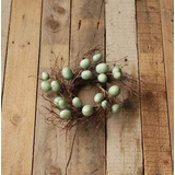 Candle Ring - Blue Egg - 3.5 Inch
