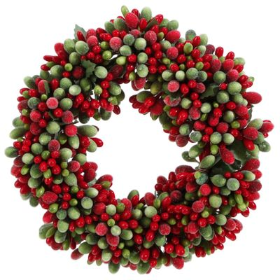 Candle Ring - Green/Red Frost Candle Ring - 3.75in