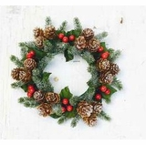 Candle Ring - Icy Berry With Mini Pine Cone - 3 Inch