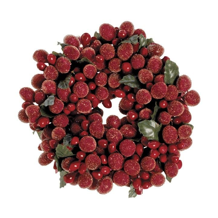 Burgundy Frost Candle Ring - 2in