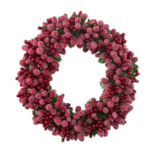 Burgundy Frost Candle Ring - 3.5in