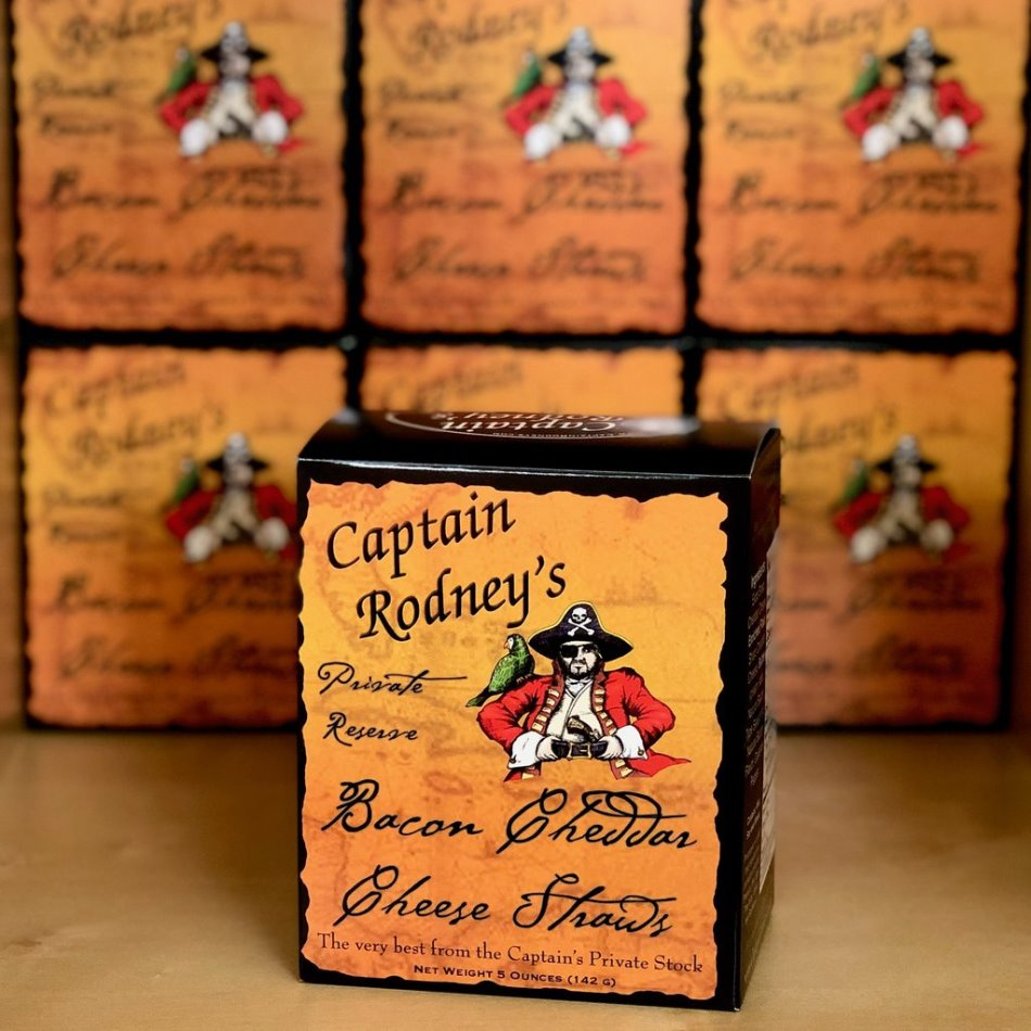 Captain Rodney's Private Reserve Bacon Cheddar Cheese Straws - 5oz