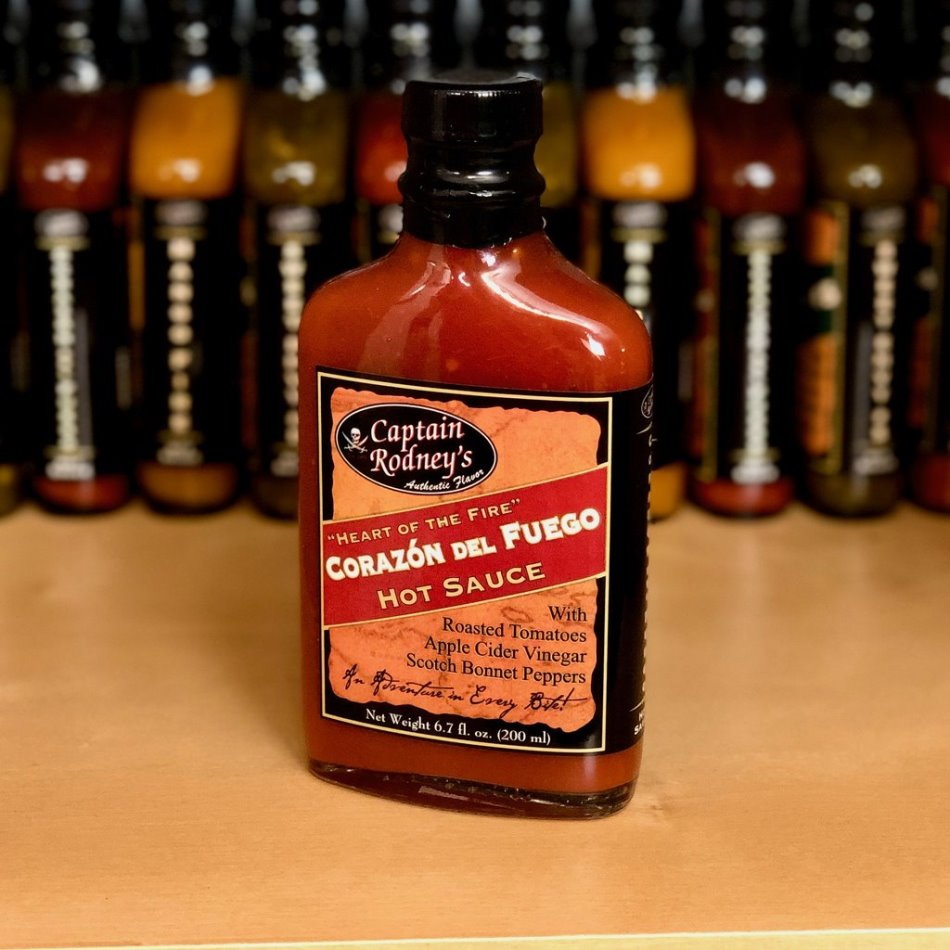 Captain Rodney's Private Reserve - Corazon del Fuego Hot Sauce - 6.7oz