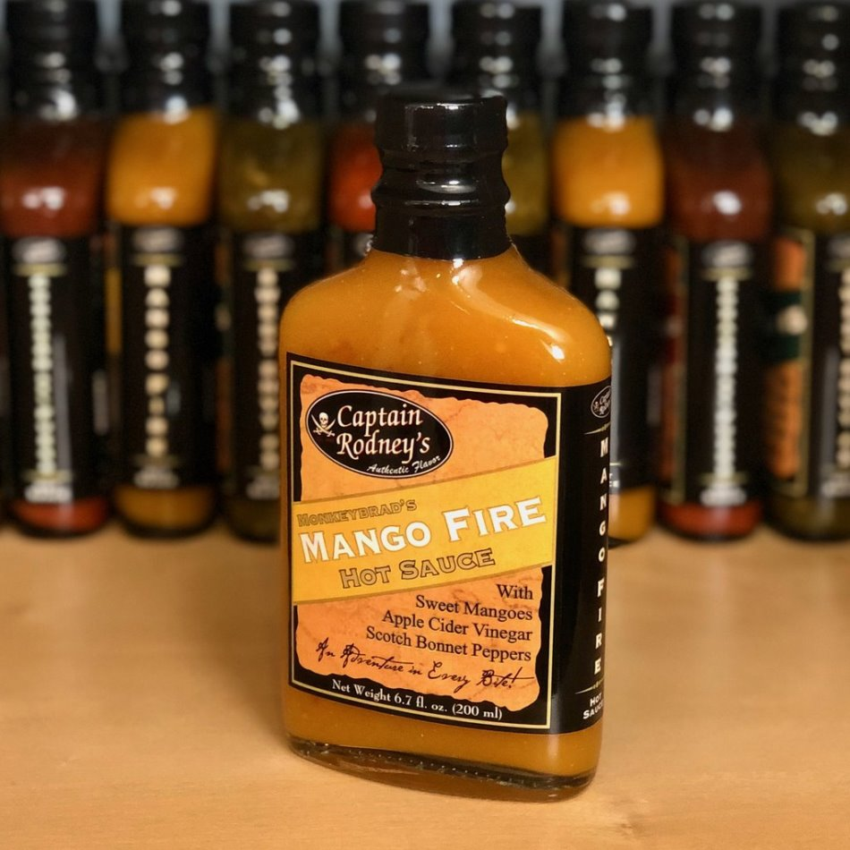 Captain Rodney's Private Reserve - Mango Fire Hot Sauce - 6.7oz