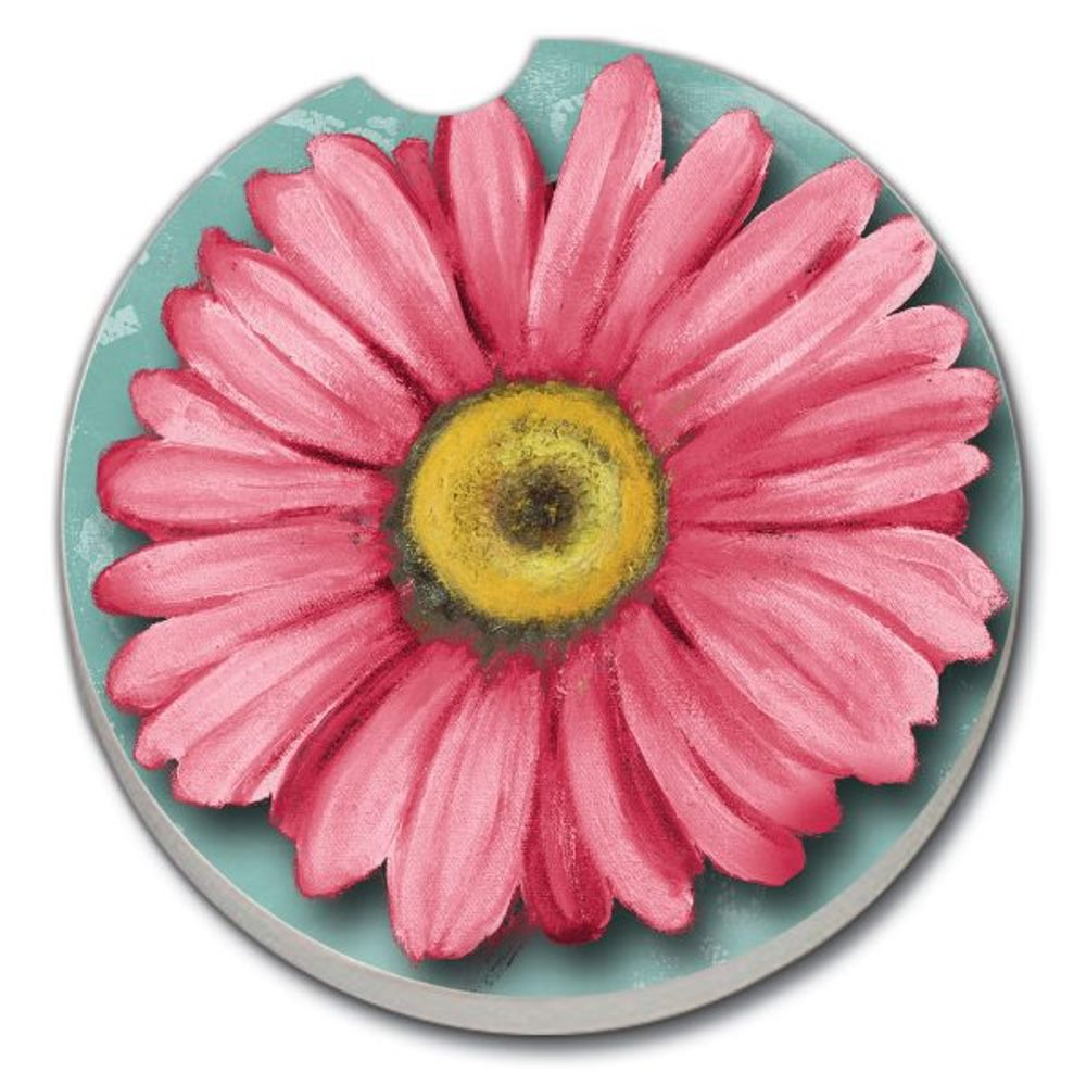 Car Coaster - For Car Cup Holders - Blooming Daisy