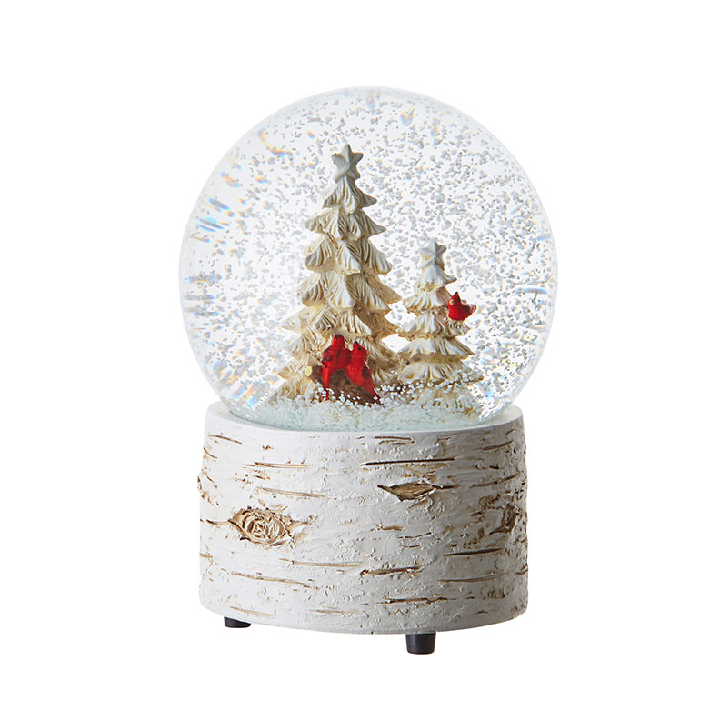 Cardinal Musical Water Globe - 5.5in