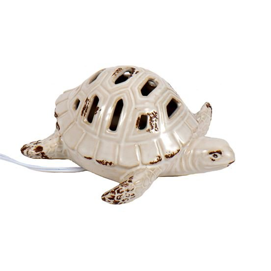 Ceramic Lamp - Lighted Sea Turtle Lamp - 7.75in