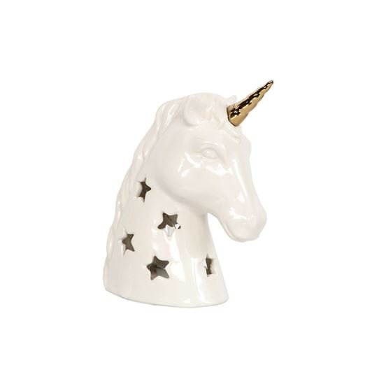 Ceramic Night Light - Lighted Unicorn Night Light - 8in