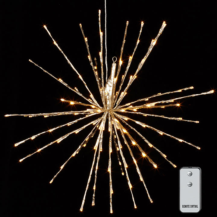 Champagne Lighted Starburst - Multifunction With Remote - 23in