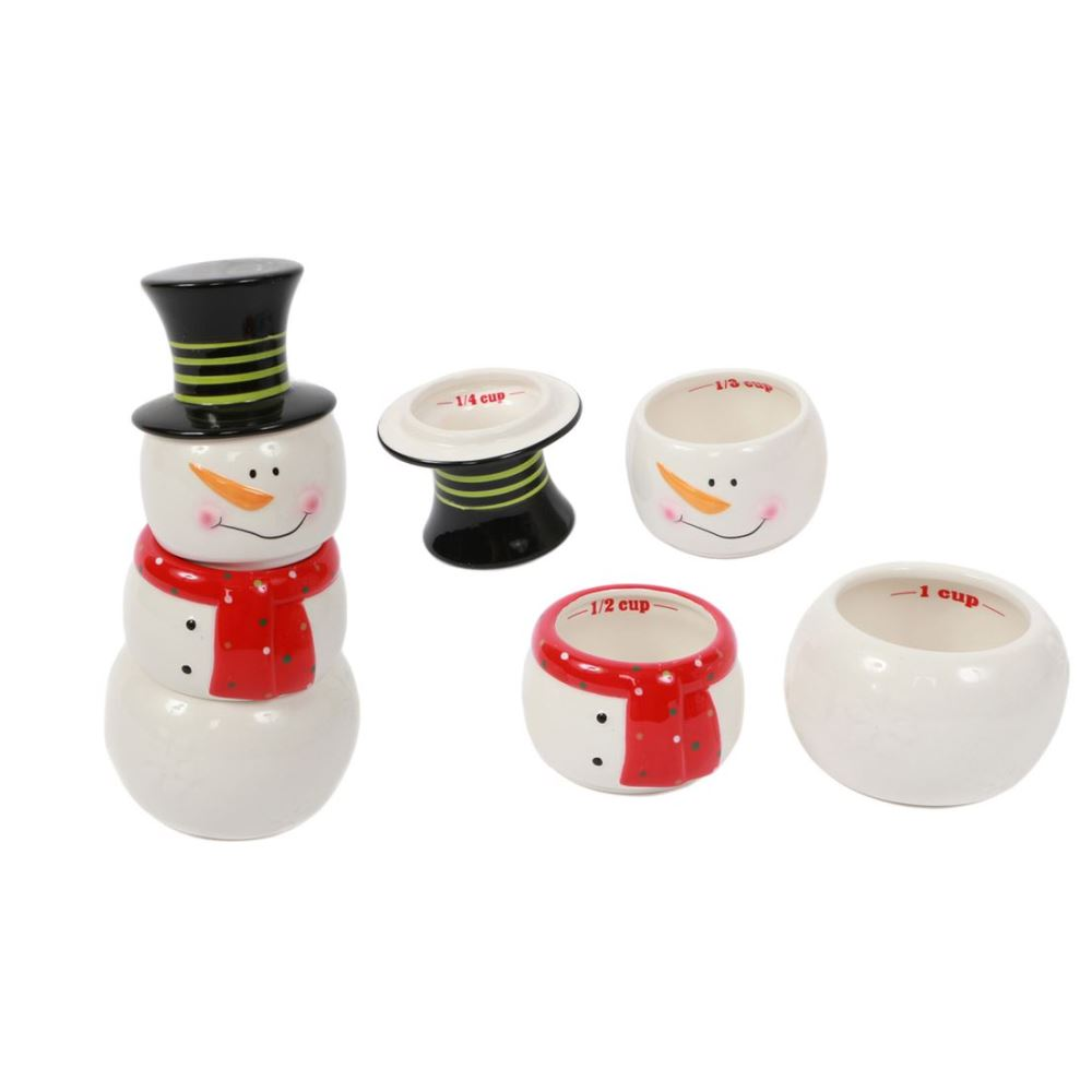 Christmas Measuring Cups -Snowman - Stackable - 8.5in