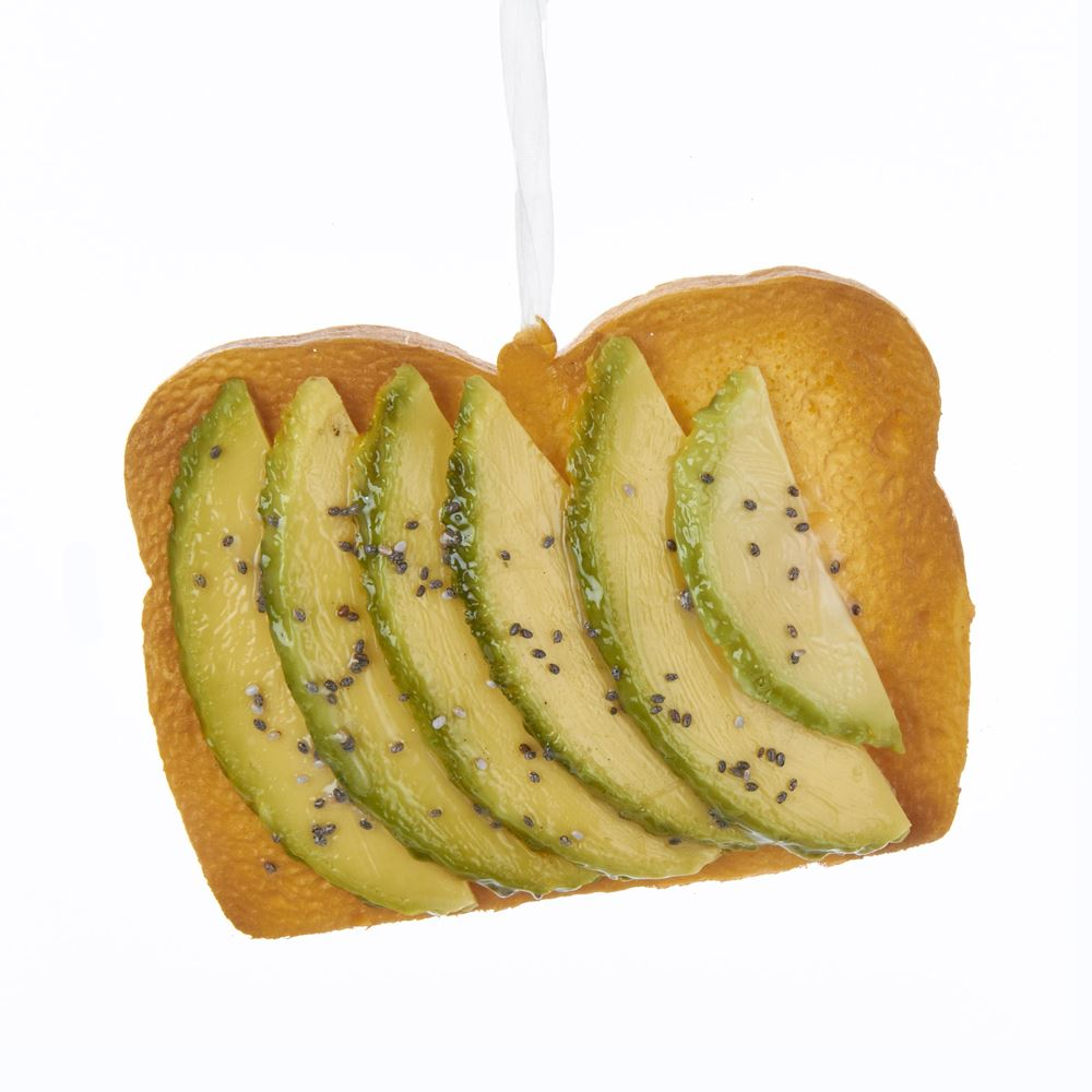 Christmas Ornament - Avocado Toast - 3.94in