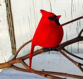 Christmas Ornament - Cardinal with Clip - 4.5 Inch