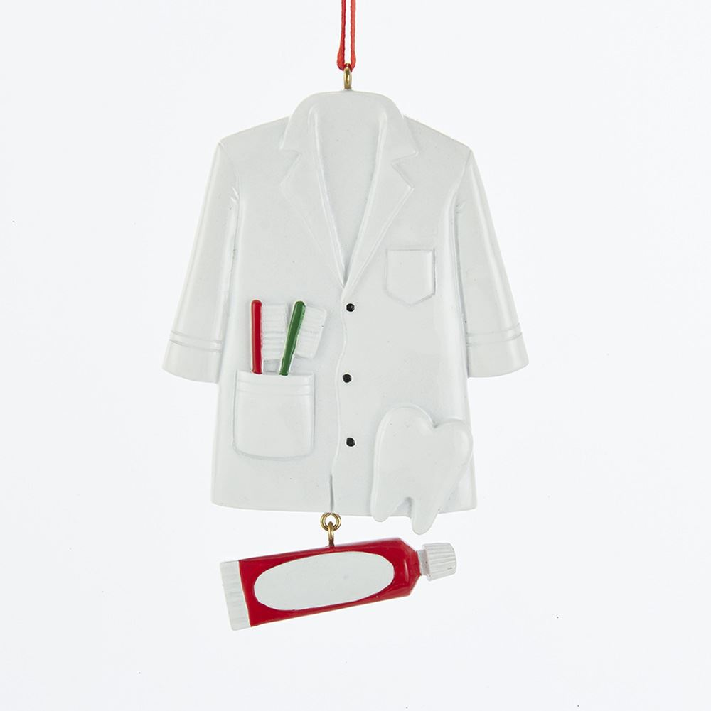 Christmas Ornament - Dentist Coat - 4in