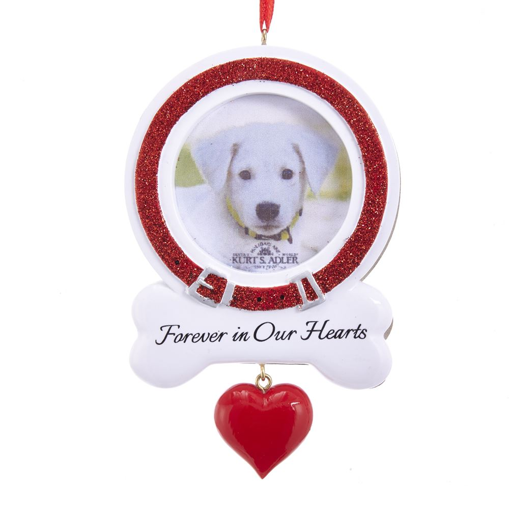 Christmas Ornament - Dog Rememberance - Picture Frame - 3.38in