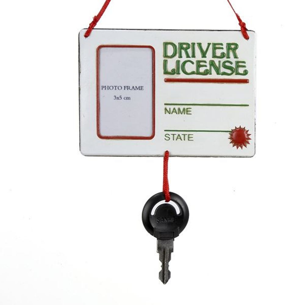 Christmas Ornament - Drivers License With Key - 5in
