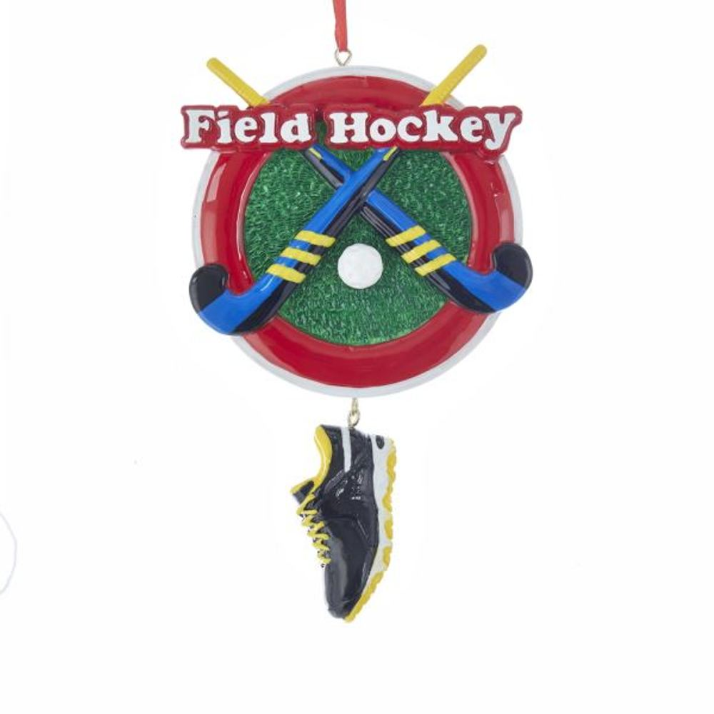 Christmas Ornament - Field Hockey - 6in