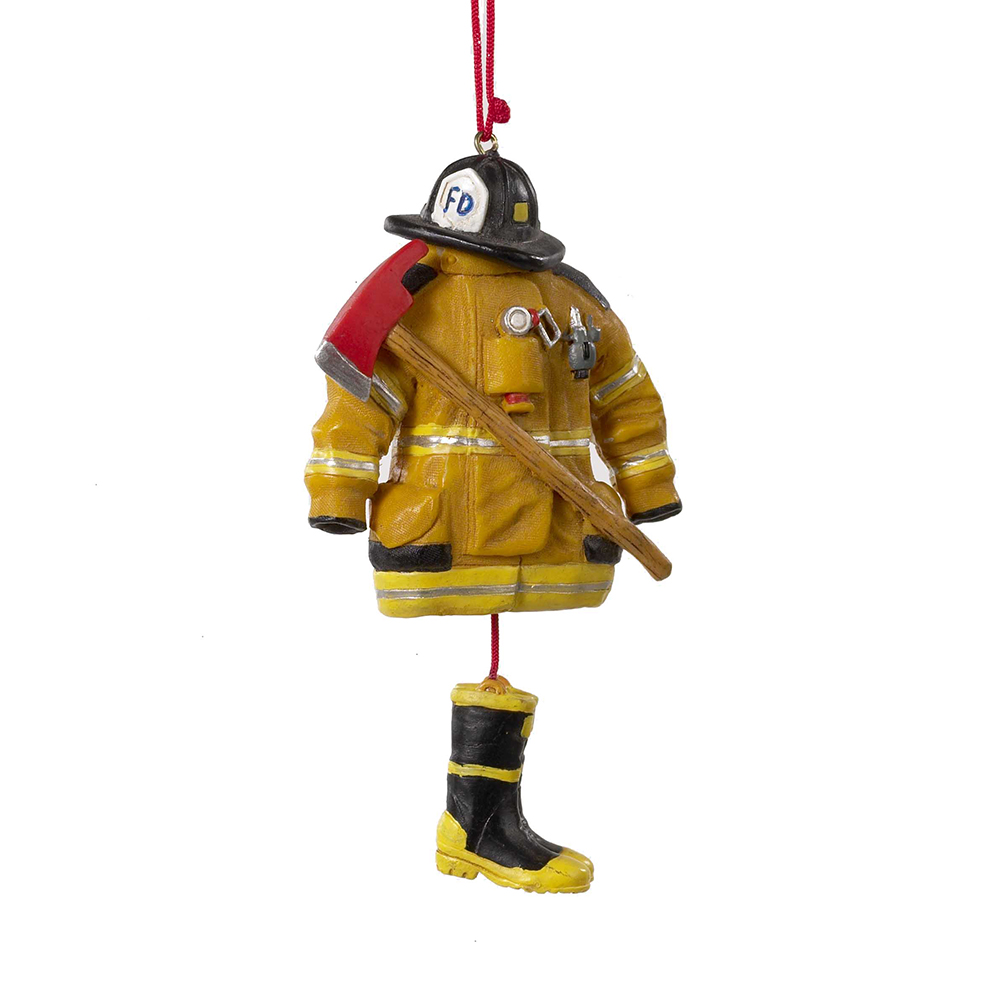 Christmas Ornament - Firefighter Uniform - 4.5in