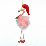 Christmas Ornament - Flamingo With Dangle Legs - 7.5in