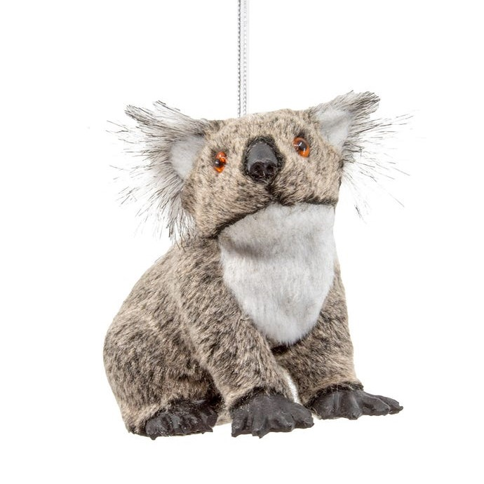 Christmas Ornament - Furry Koala Bear - 3in