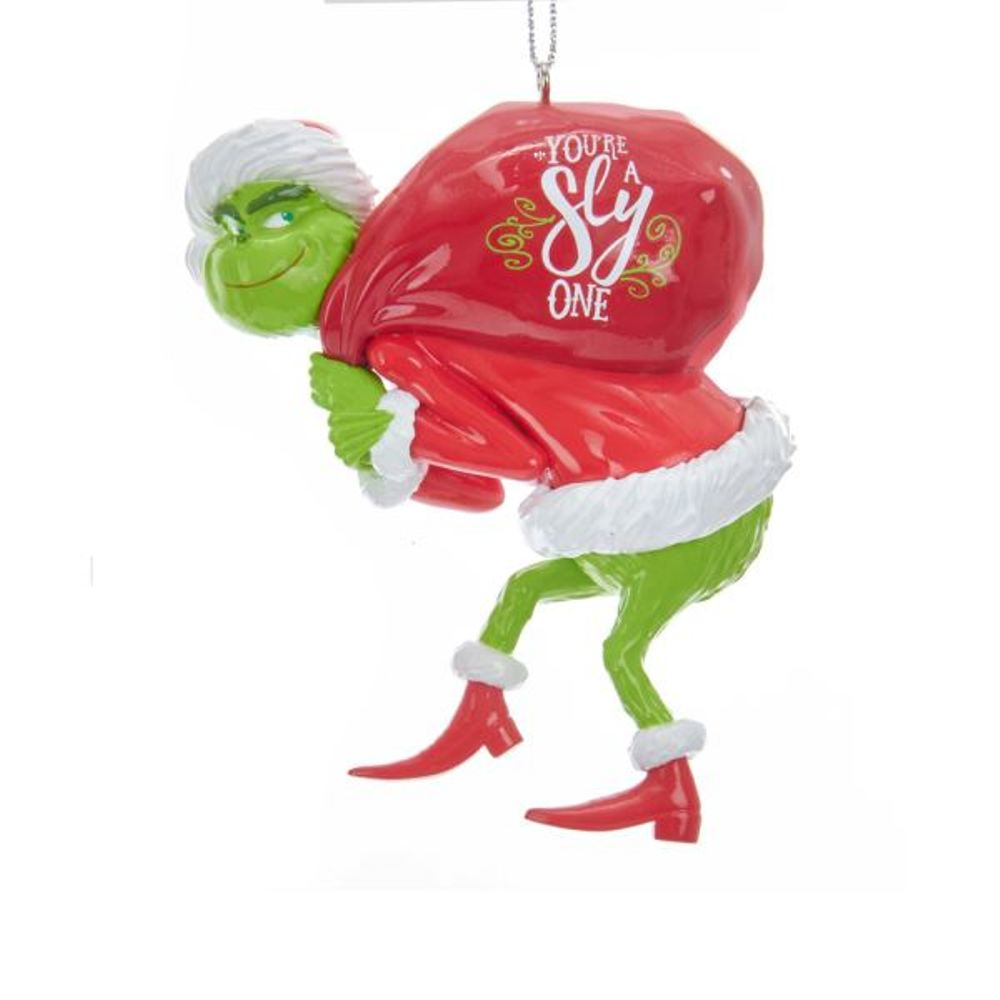 Christmas Ornament - Grinch With Red Sack - 3.5in