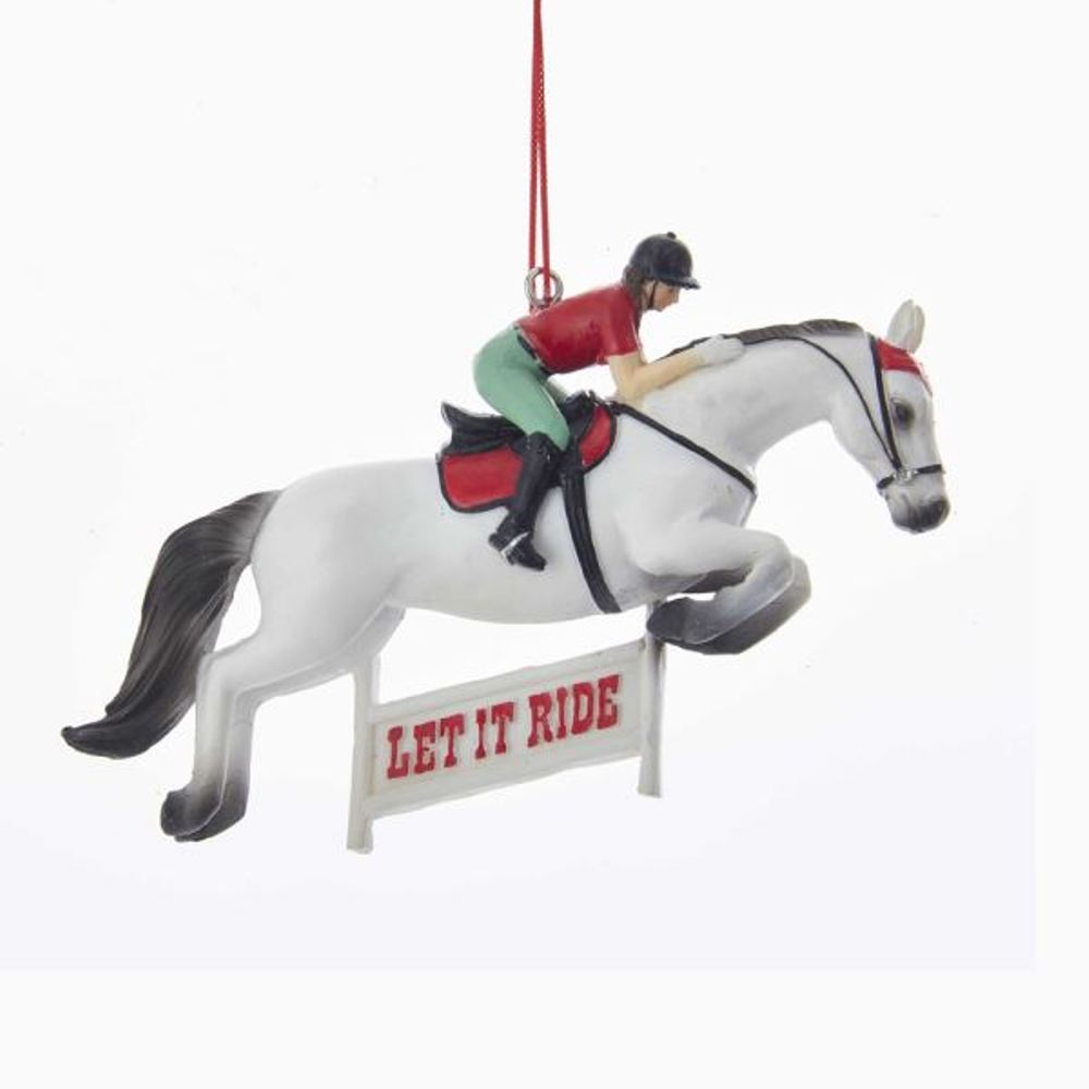 Christmas Ornament - Horse Racing - 4.75in
